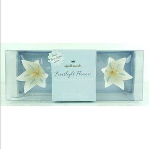 2001 FROSTLIGHT FLOWERS NEW  SET OF 3 Ornament